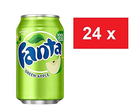2 x 12 Fanta Green Apple USA-Import Dosen (24 x 0,355 L) EINWEG inkl. gratis Fivestar Kugelschreiber (Europa)