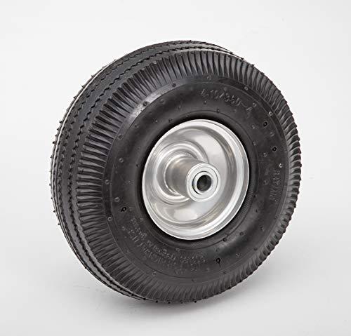 Lapp Wheels Pneumatic 4.10/3.50-4 Tire, Wagon/Utility cart/Hand Truck Replacement, Gray,