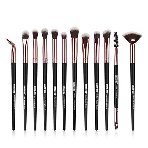 HZSLRL Pincel Maquiagem Pour Le Maquillage 12Pcs-Noir