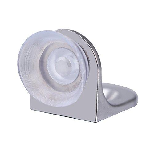 WINOMO Regal-Unterstützung L-förmige Winkel Klammer mit Schrauben für Glas Regal-Befestigung 8pcs