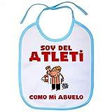 Babero Atlético de Madrid soy del atleti como mi abuelo - Celeste