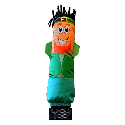 LookOurWay Mini Air Dancers Inflatable Tube Man Set / 29' Waving Inflatable Tube Guy with Blower for Stand Out Advertising (St. Patrick's Day Leprechaun)