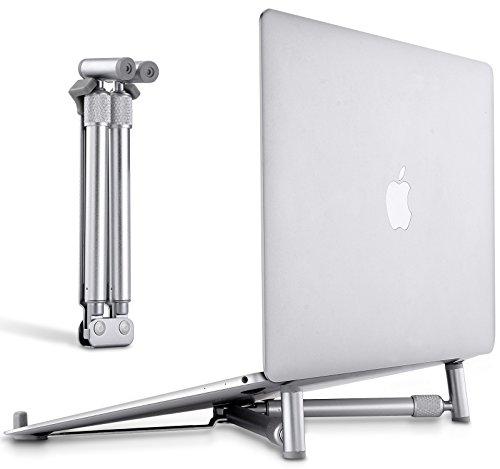 Tragbarer Laptop Ständer, Tensun Einstellbarer Laptop Ständer für MacBook Pro, Aluminium Schreibtisch Kompaktes Universal Computer-Kühlständer für 14-17 Zoll