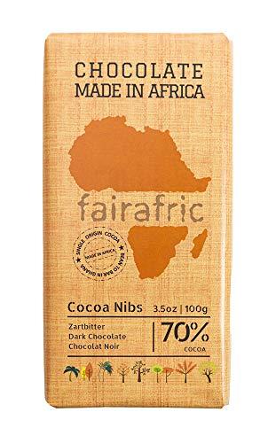 fairafric Zartbitterschokolade Kakaosplitter 70% vegan, 100g