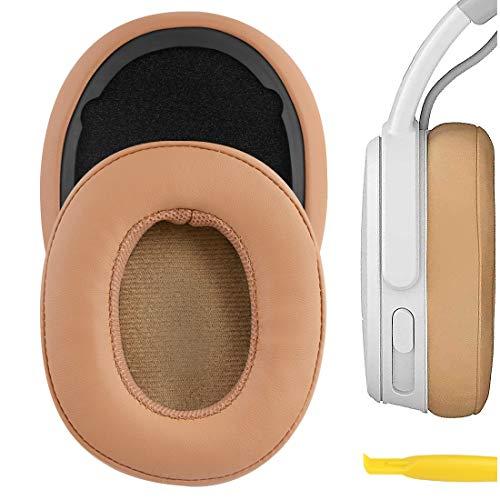 Geekria Ersatz-Ohrpolster für Skullcandy Crusher Bluetooth Wireless, Hesh 3 Bluetooth Wireless, Venue, Kopfhörer/Ohrpolster, Ohrmuscheln, Ohrpolster, Reparaturteile (braun)