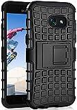 ONEFLOW Tank Case kompatibel mit Samsung Galaxy A5 (2017) - Hülle Outdoor stoßfest, Handyhülle mit Ständer, Handy Hardcase Panzerhülle, Schwarz