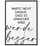 Papierschmiede® Typografie-Poster   Werde besser (elegant)