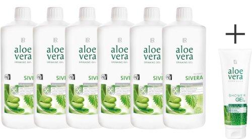 6x 1 Liter Aloe Vera Drinking Gel Sivera - Brennnessel