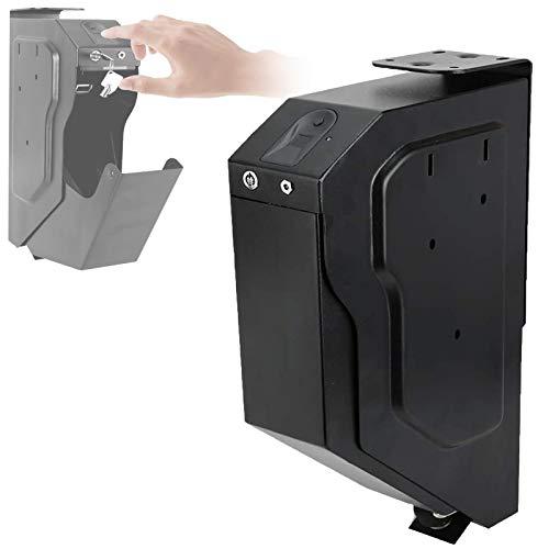 WDSZXH Caja Fuerte para Armas, Fácil de Usar Gabinete para Armas, Huella Digital y Cerradura con Llave, Proporciona Almacenamiento Seguro para Una Pistola Estándar