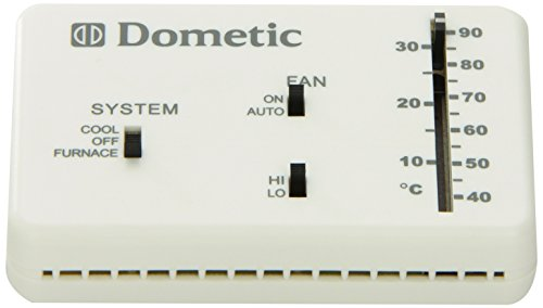 Dometic D3106995.032 Polar White 3106995.032 Analog Wall Thermostat