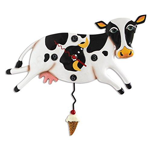 Allen Designs 'Bessy Cow' Whimsical Pendulum Wall Clock