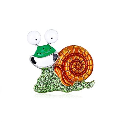 CXSD Caracol de dibujos animados broche aleación rhinestone sonrisa exagerado traje animal accesorios de ropa