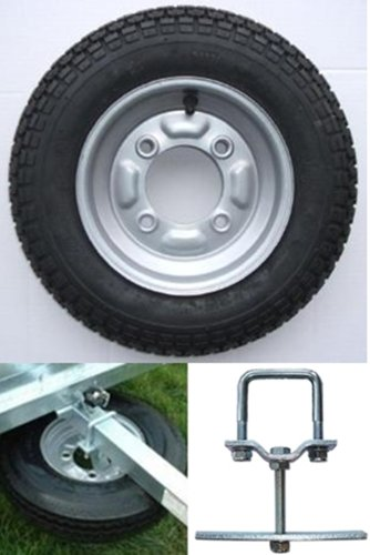 3.50 x 8 inch trailer wheel and tyre with 4 ply tyre and 115mm PCD. To fit...