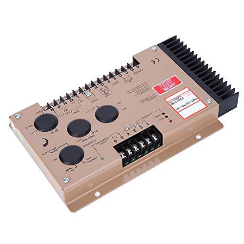 Oumefar Unidad de Controlador de Velocidad de 12 V / 24 V CC Controlador de Velocidad de Motor diésel Velocidad Ajustable Robusto ESD5330E Práctico de Servicio Pesado para Ajuste de Motor Industrial