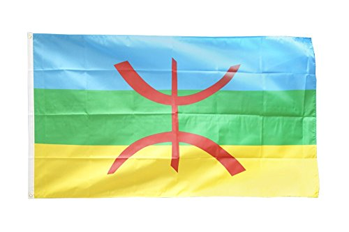 Fahne / Flagge Berber Amazigh + gratis Sticker, Flaggenfritze®