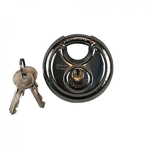 2 x schloss mit jeweils 2 Schlüsseln Durchmesser 70 mm Gewicht 0,1 kg für Bauwagen, Anhänger, Werkzeugkisten, Gartenhäuser etc.