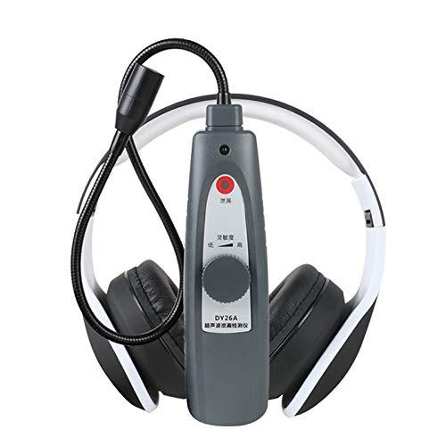 QWERTOUR Detector de Fugas por ultrasonidos Herramienta de Agua de Gas Fuga de vacío de presión transmisor de ultrasonidos Sondas Detector de Defectos del Estetoscopio
