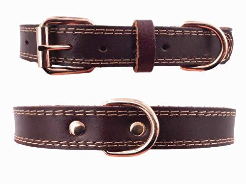 Collar de piel de para perro,tacto suave resistente ajustable,para hombres y mujeres perros pequeños medianos y grandes