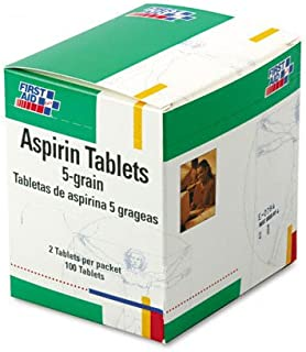 First Aid Kit Refill Regular Strength Aspirin, 50 2-Tablet Packs