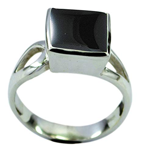 GemsOnClick Choose Your Gemstone Color Real Square Shape Silver Rings for Women Chakra Healing Handcrafted Size H-Z