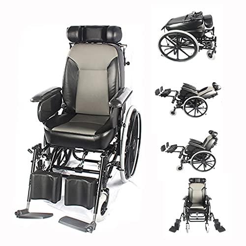 Silla De Ruedas Para Parálisis Cerebral Ajustable Carro De Acero Con Alto Contenido De Carbono Para Discapacitados Para Personas Con Accidente Cerebrovascular Paraplejia, Asiento De Cuero De P