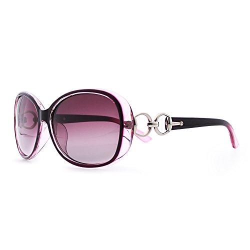 VeBrellen Luxury Transparent Women's Polarized Sunglasses Retro Eyewear Oversized Square Frame Goggles...