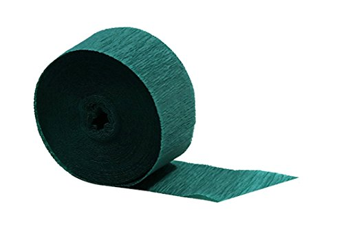 Green Crepe Paper Streamers 2 Rolls 145 ft Total - Made in USA! by Dennecrepe