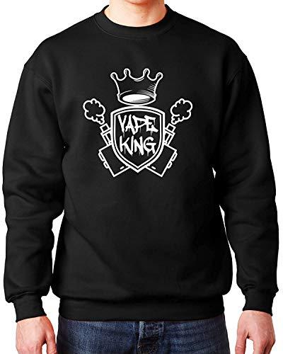avis site de vape professionnel Sweatshirt à col ras du cou Vape King Dazzle Graphic pour homme