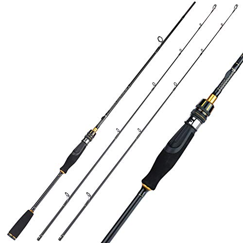 Sougayilang Fishing Rods,Sensitive Baitcasting Rod & Spinning Rods,Durable, Lightweight Twin-Tip or One Piece Trout Rods for Torrent Fishing Tournament Fishing Pole(1 Piece Casting Rod-1.98m/6.49ft)
