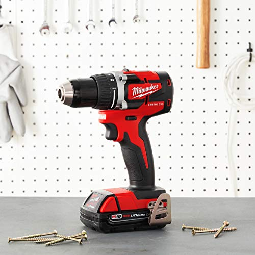 MILWAUKEE'S M18 18-Volt Lithium-Ion Brushless Cordless 1/2 Inch Compact Drill/Driver (Tool-Only) 2801-20