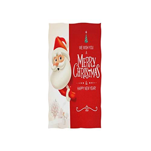 Mnsruu - Toalla de baño (76 x 38 cm), diseño de Papá Noel