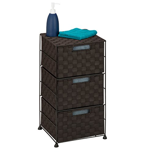 Honey-Can-Do Ofc-03714 Organizador de Almacenaje de 3 Gavetas de Tejido Doble, con Ruedas, 30.5 cm X 30.5…