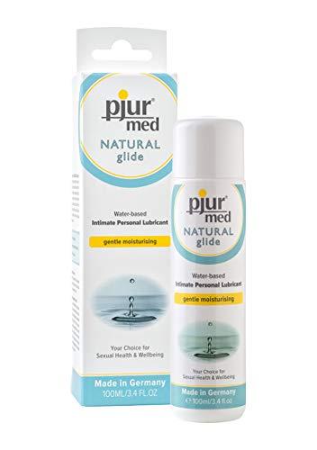 pjur med NATURAL glide - Medizinisches Gleitgel auf Wasserbasis - mit pflanzlichem Glycerin - Schutz für sensible Haut - 1er Pack (1 x 100 ml)