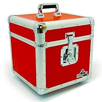 "Gorilla Cases LP 12"""" Vinyl Record Box Storage Flight Case Red inc Lifetime Warranty"