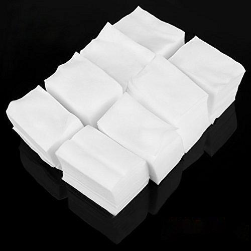 JUNGEN 900 Piezas Algodón Celuloso Toallitas Limpiador Toallas Quitaesmalte Uñas para Manicura (Blanco) (Blanco)