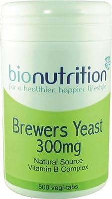 Bio Nutrition Brewers Yeast 300mg : Natural B Vitamins : 500 vegi-tabs