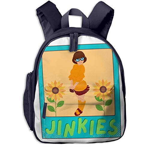 XCNGG Zaino per bambini zaino per bambini Kids Backpack 3d Jinkies Velma Photo Preschool Kindergarten Bags Rucksack Casual Daypack For Children Toddler Girls Boys Pink