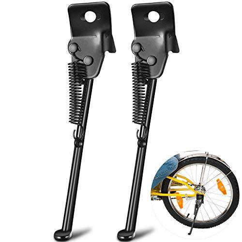 2 Soportes de Bicicleta de Niños Pata Lateral Único de Bicicleta Soporte de Puesto de Bicicletas Caballetes de Estacionamiento de Bicicletas para La Mayoría de Bicicletas de Niños (16 Pulgadas )