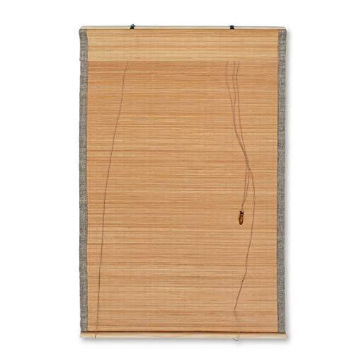 MYHO竹すだれ竹製スクリーン防カビ加工日よけ目隠し遮光巻上げ器付きト竹ローラー付き90x180cm