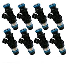 Set Of 8 New Fuel Injectors for GM Marine 8.1 Truck 44LB 450cc #$17113739 #25348180