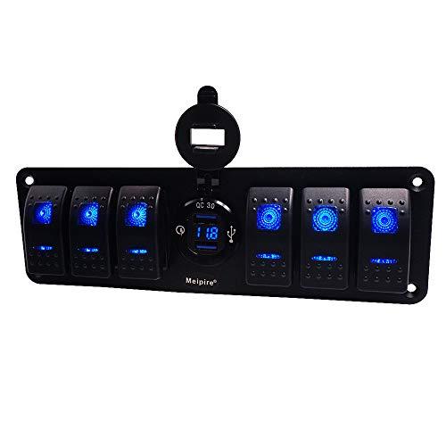 12V 24V Auto Boot Marine RV Sasquatch Rocker Kippschalter Blaue LED