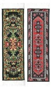 Oriental Carpet Bookmarks - Authentic gift Colle Black Woven Fabric Sale price