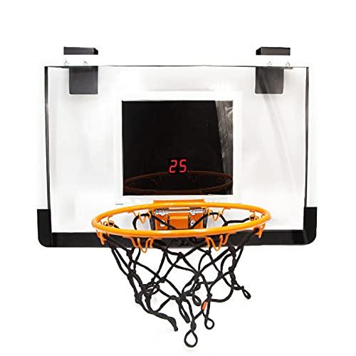 RHSMW Canasta De Baloncesto De Pared, Aro De Baloncesto para Adultos Portátiles Adecuado para Juguetes Deportivos Al Aire Libre para Niños Y Exteriores,Negro