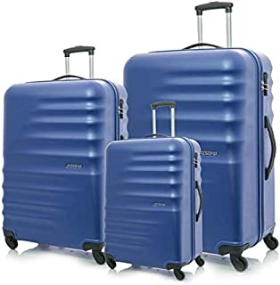 American Tourister Preston Spinner Suitcases, Set of 3, Size 55 67 77, Blue
