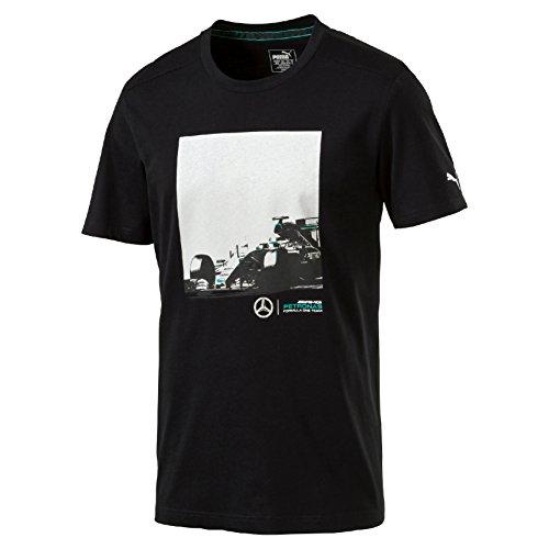 MERCEDES AMG PETRONAS Herren Mercedes AMG Car Graphic Tee T-Shirt, schwarz, L