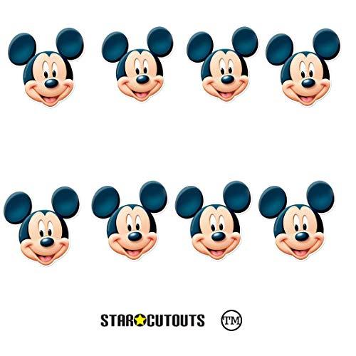 Star Cutouts Ltd SMP433 8 Pack Karton Gezicht Praten Punt voor Mickey Mouse Fans Gebruik als Maskers, Decoraties voor Verjaardagen, Multi kleuren