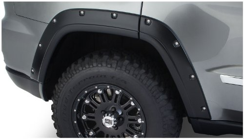 Bushwacker 10927-02 OE Black Pocket Style Fender Flare for Jeep Grand Cherokee, (Set of 4)