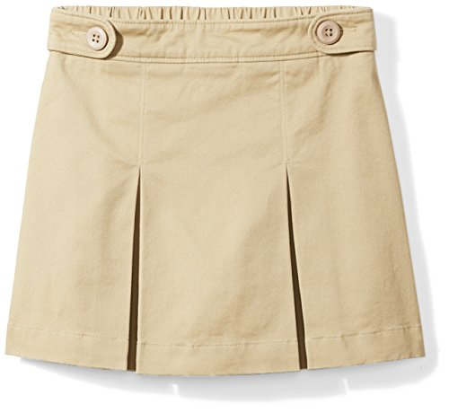 Amazon Essentials Little Girls' Uniform Skort, Khaki, XS (4-5)
