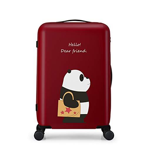 XDDJH Borsa da viaggio Tolley da donna Valigia per bagaglio Ruota girevole Ruota muta Bagaglio a rotelle Materiale PC Materiale da trasportare 20 24 pollici