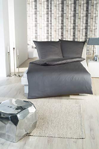 Parure de lit satin Parure de lit Anthracite 135x 200cm